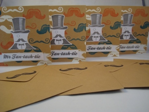The finished cards and envelopes