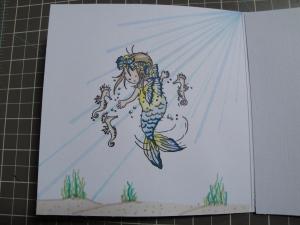 Mermaid card internal detail
