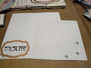 Front of envelope 'Hey there'