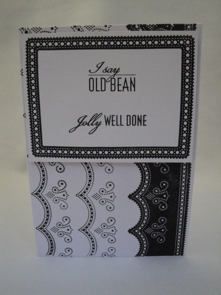 Jolly well done card