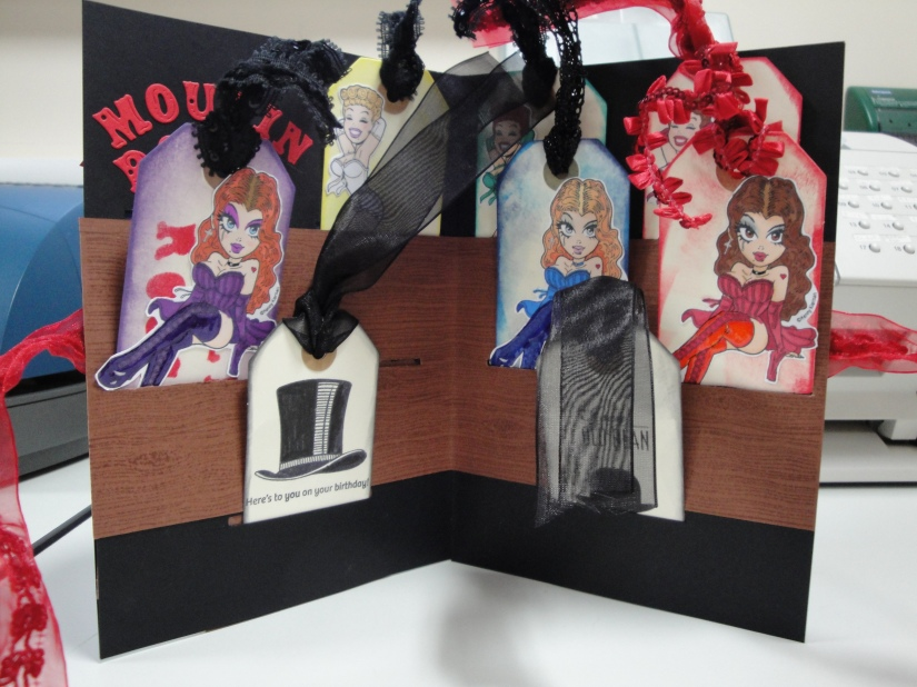 Moulin Rouge card with tags