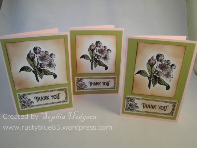 Vintage Flowers Thank you 3