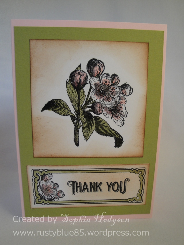 Vintage flowers thank you 1