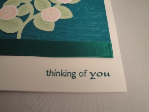embossing - Shibumi thinking of you