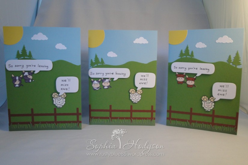 Sandwich 2014 goodbye cards x3