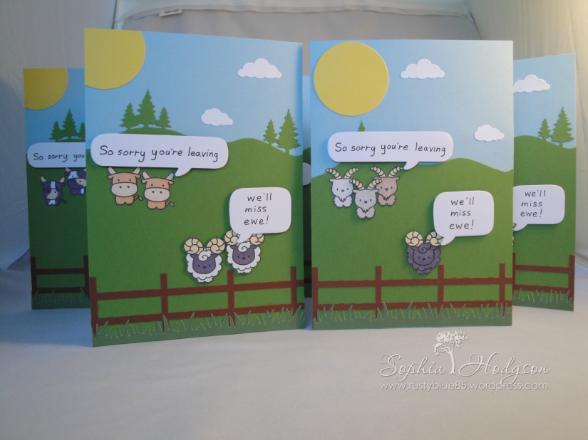 Sandwich 2014 goodbye cards x5