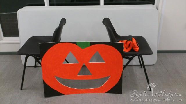 Pumpkin Chuckin' set up